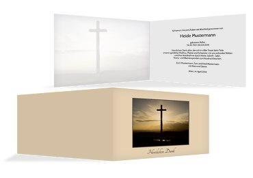 Dankeskarte Kreuz quer
