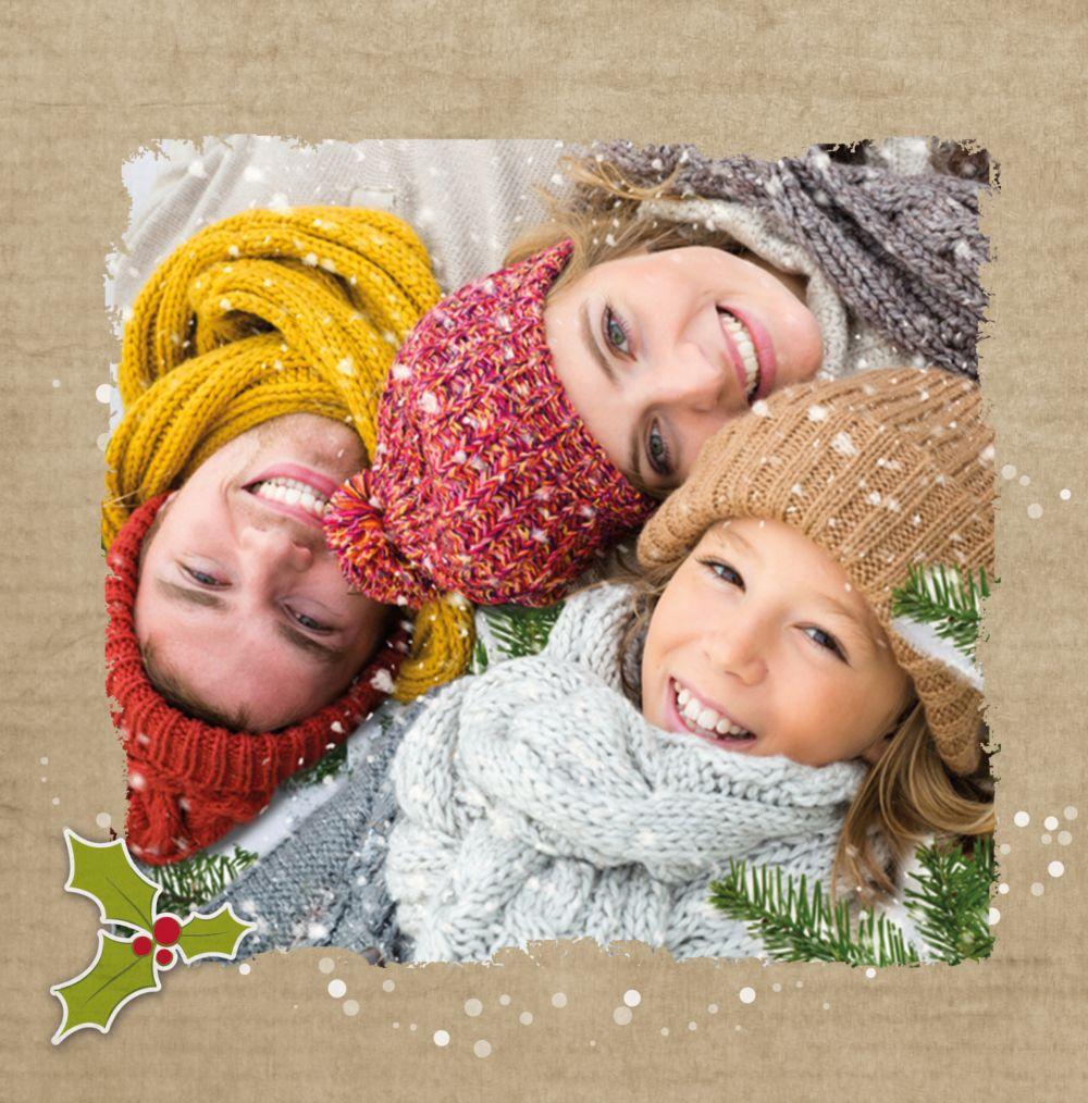 Ansicht 4 - Foto Einladung Weihnachtskranz