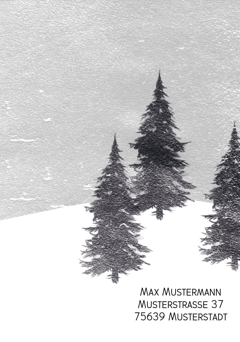 Ansicht 2 - Grußkarte Winterwald