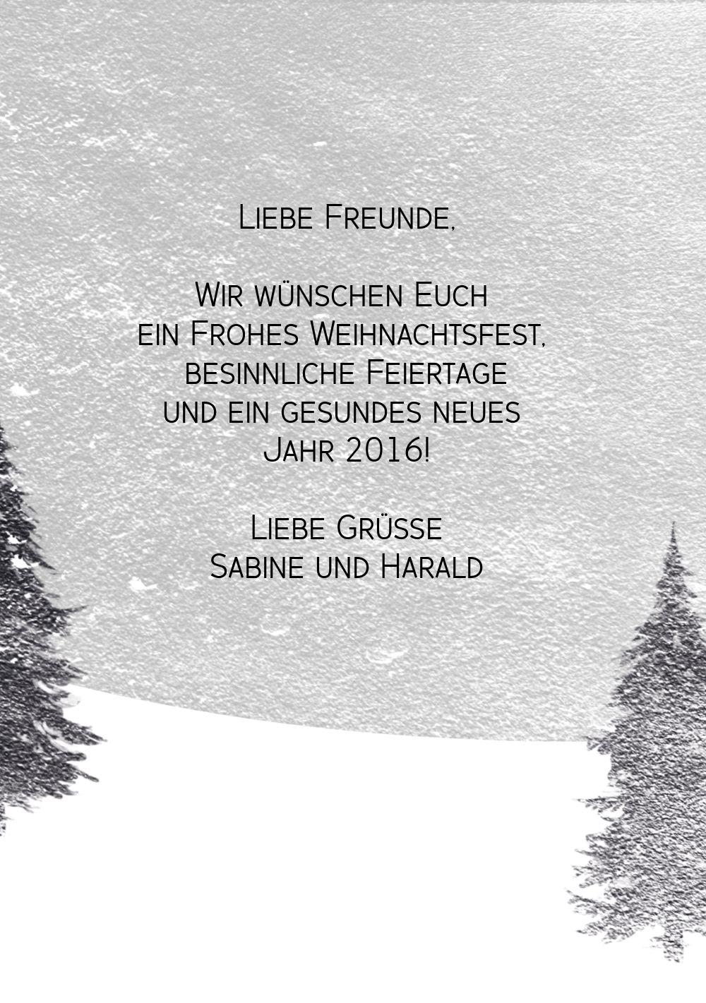 Ansicht 5 - Grußkarte Winterwald