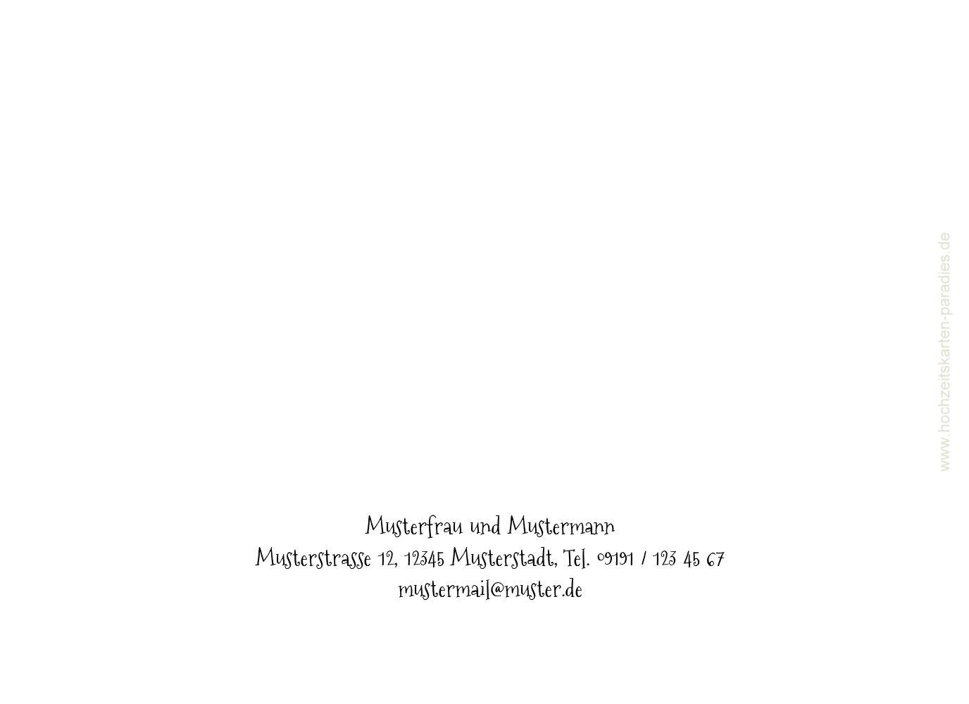 Ansicht 2 - Kontur Einladung Liebespaar