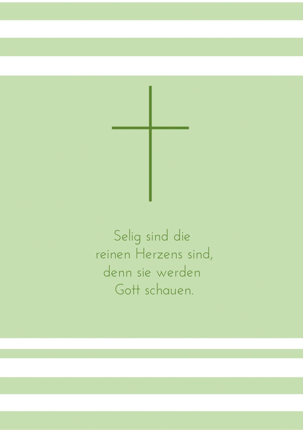 Ansicht 4 - Konfirmation Dankeskarte Kreuz