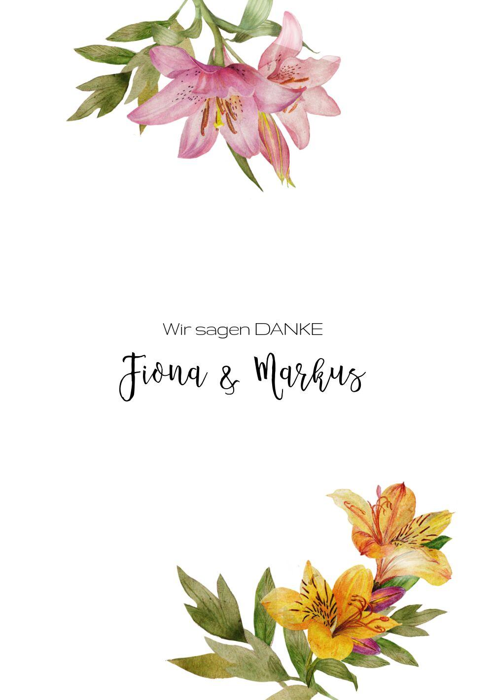 Ansicht 3 - Hochzeit Dankeskarte Blumendeko