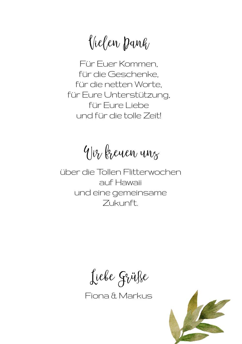 Ansicht 5 - Hochzeit Dankeskarte Blumendeko