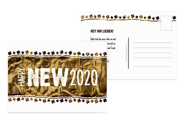 Neujahrskarte Kleeblatt