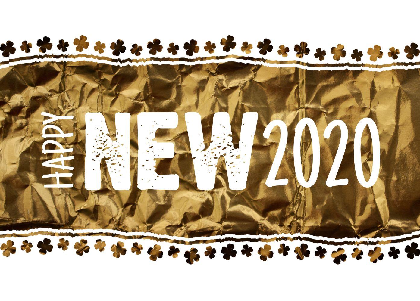 Ansicht 2 - Neujahrskarte Kleeblatt