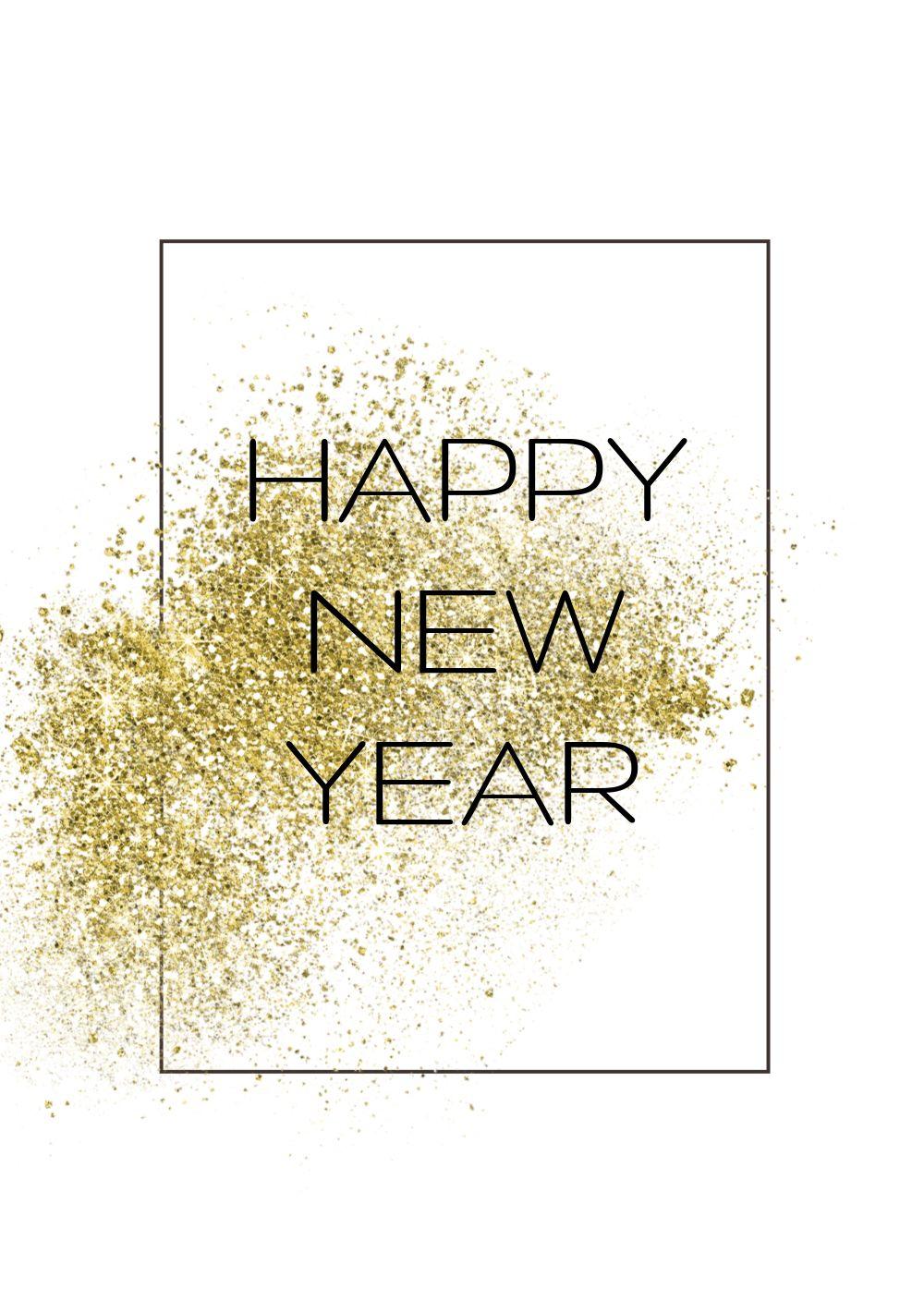 Ansicht 3 - Neujahrskarte Glitter