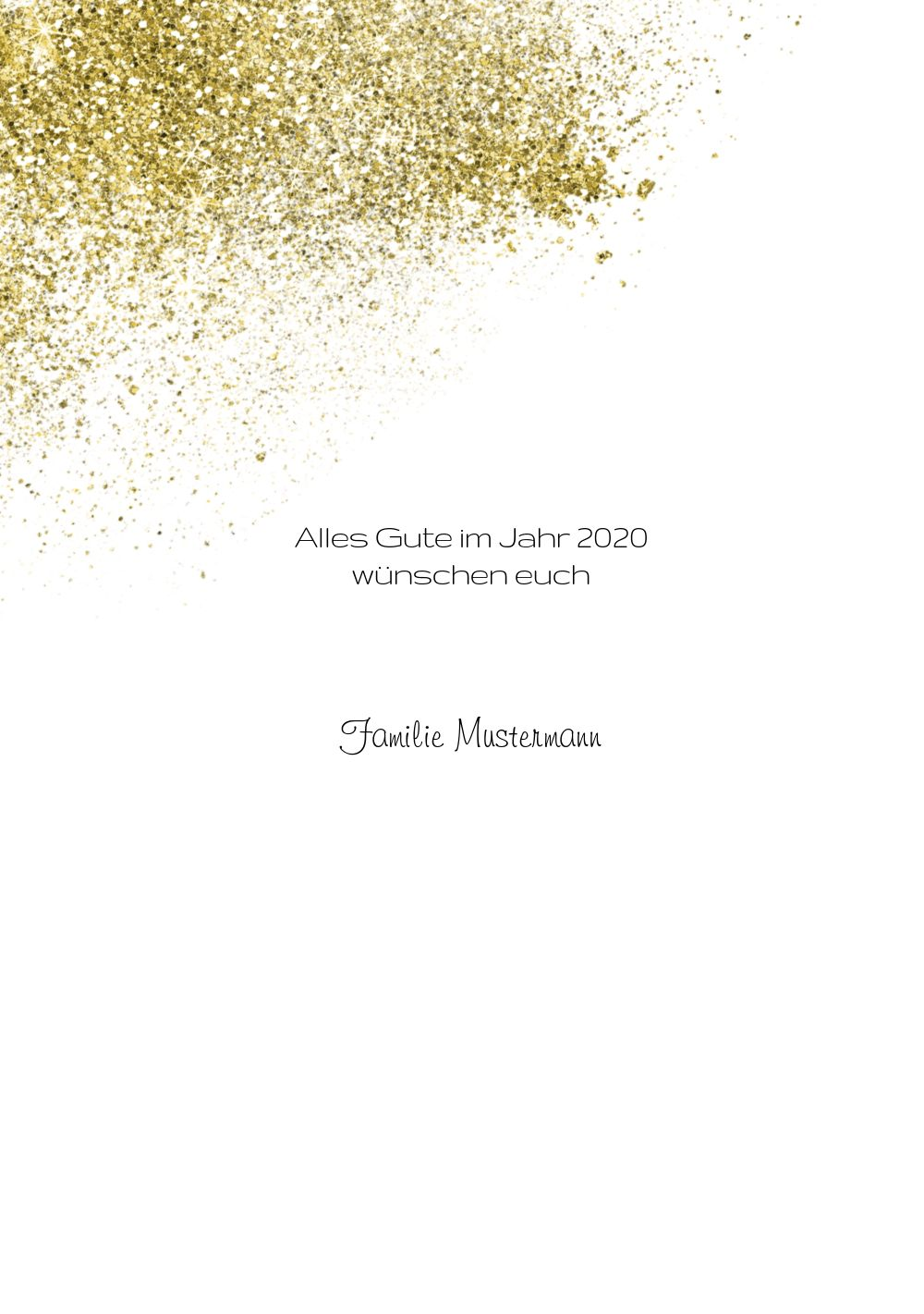 Ansicht 4 - Neujahrskarte Glitter