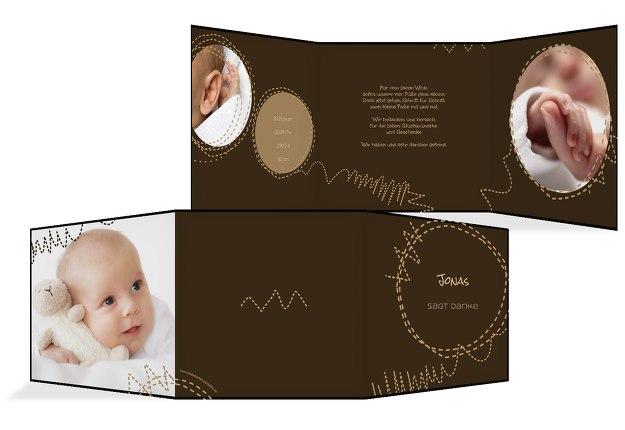 Baby Dankeskarte Naht