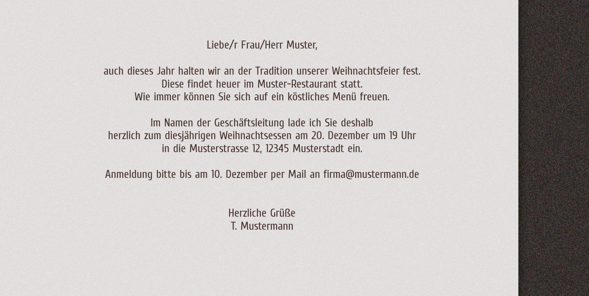 Ansicht 5 - Einladung Adventszeit