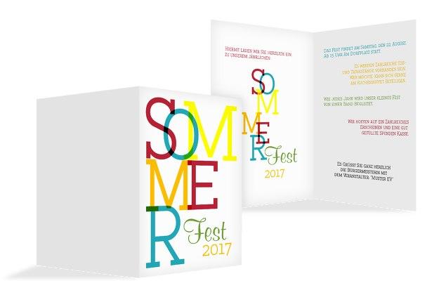 Einladung Sommerfest Sommer