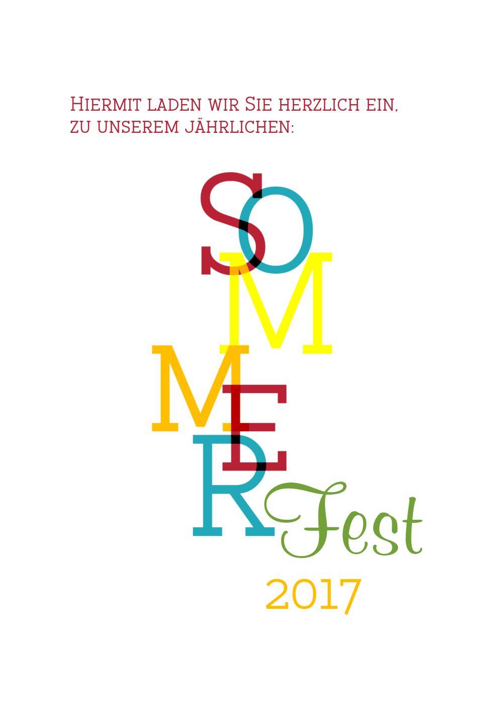 Ansicht 4 - Einladung Sommerfest Sommer