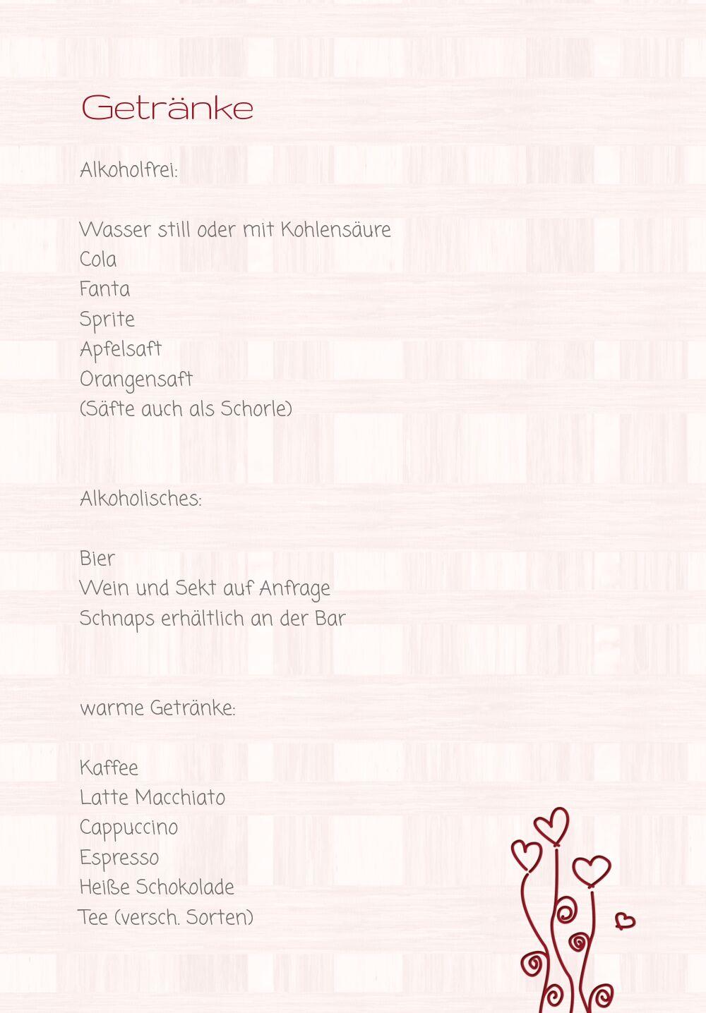 Ansicht 4 - Hochzeit Menükarte Liebestraum