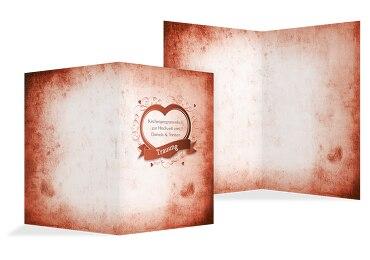 Hochzeit Kirchenheft Umschlag Herz