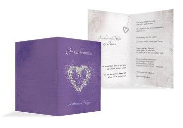 Hochzeit Einladung 2 glamour heart