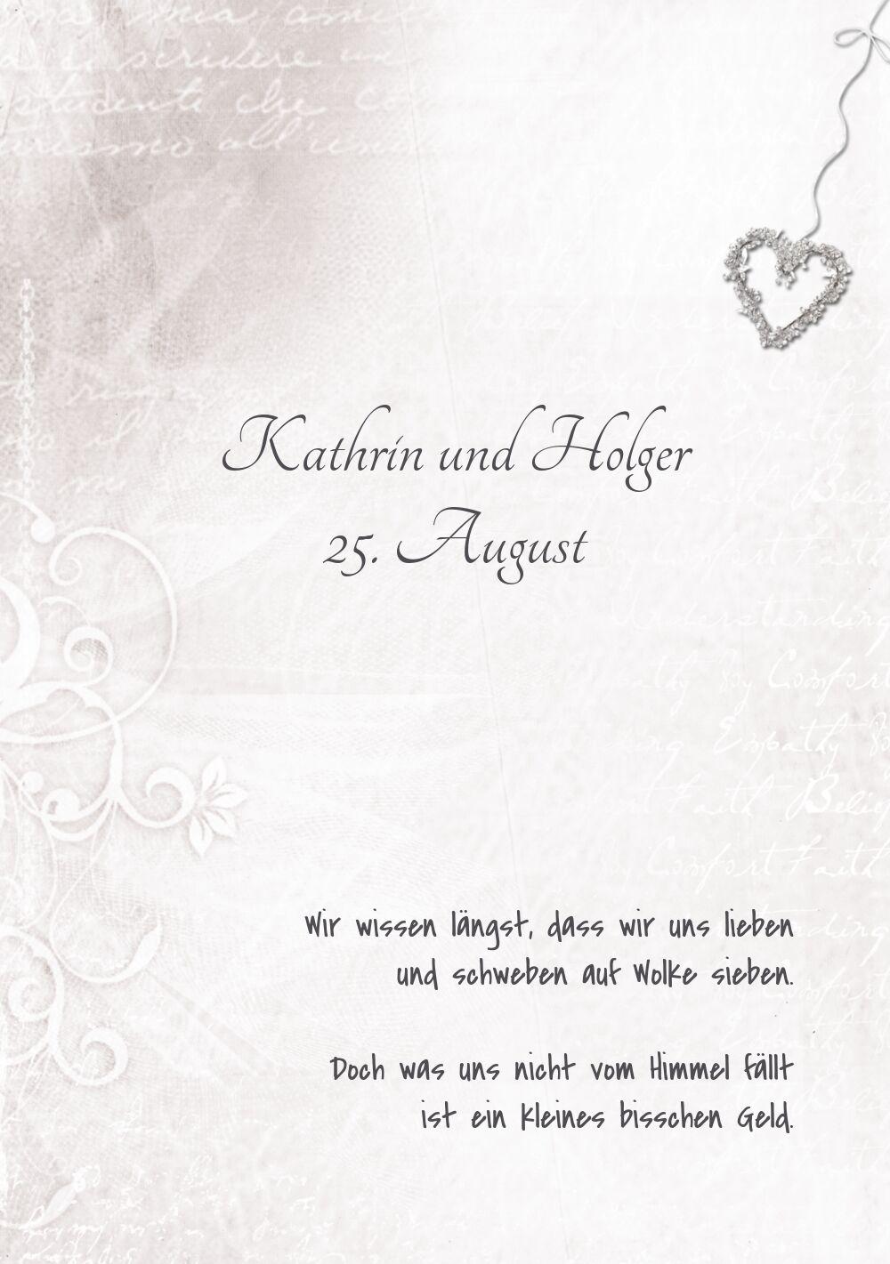 Ansicht 4 - Hochzeit Einladung 2 glamour heart