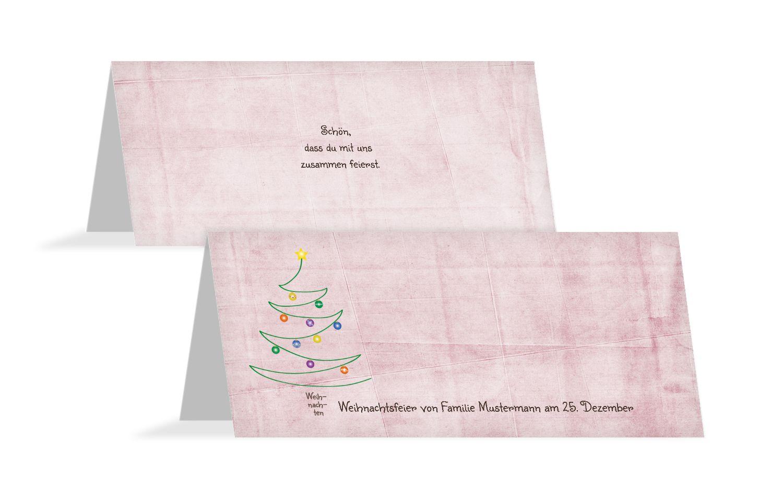 Tischkarte Weihnachtsbaum
