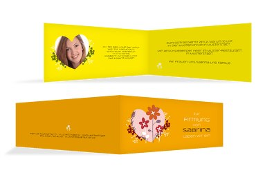 Firmung Einladungskarte Herz