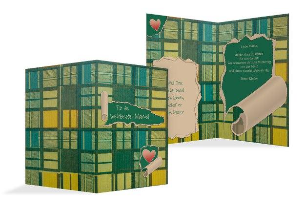 Muttertagskarte Geschenkpapier