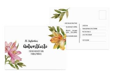 Antwortkarte Blumendeko