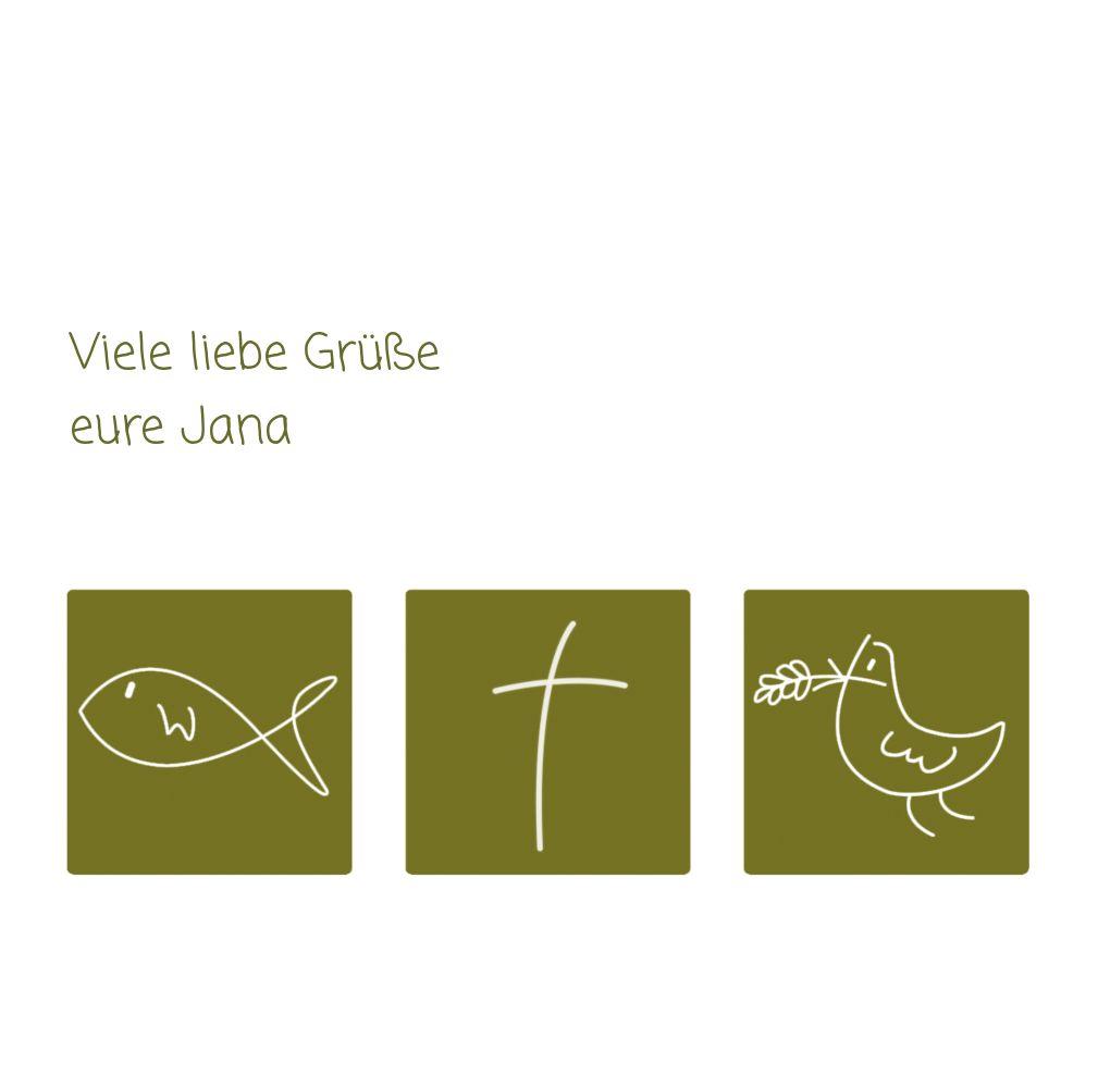 Ansicht 5 - Kommunion Dankeskarte Triple