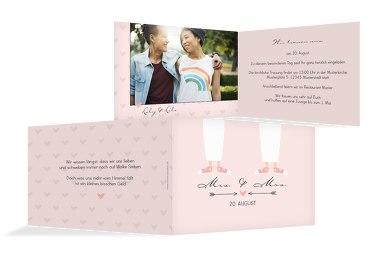 Hochzeit Einladung Pärchen - Frauen
