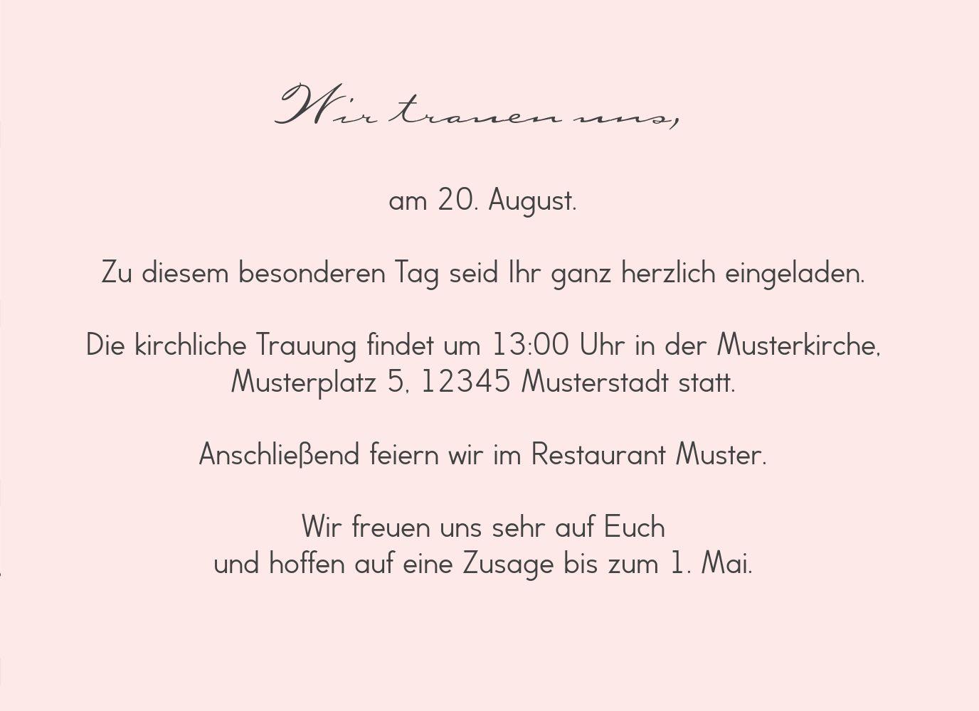 Ansicht 5 - Hochzeit Einladung Pärchen - Frauen