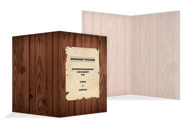 Hochzeit Kirchenheft Umschlag Steckbrief
