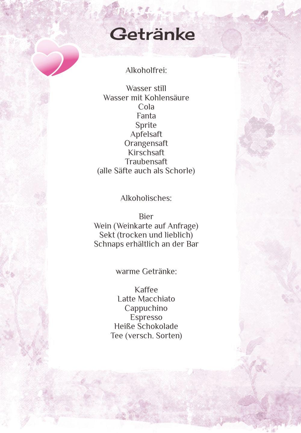 Ansicht 4 - Hochzeit Menükarte Din romantische Liebe