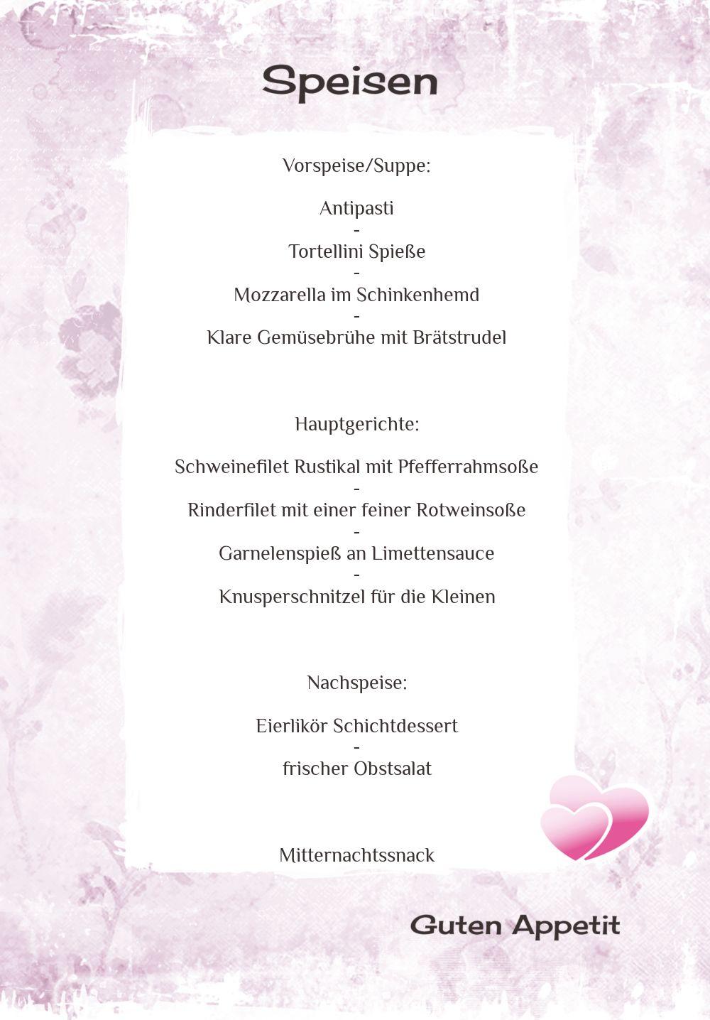Ansicht 5 - Hochzeit Menükarte Din romantische Liebe
