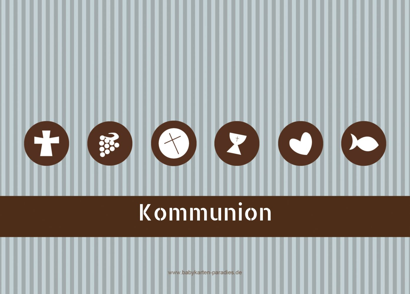 Ansicht 2 - Kommunionskarte Stripes-Buttons