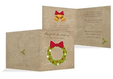 Einladung Weihnachtskranz