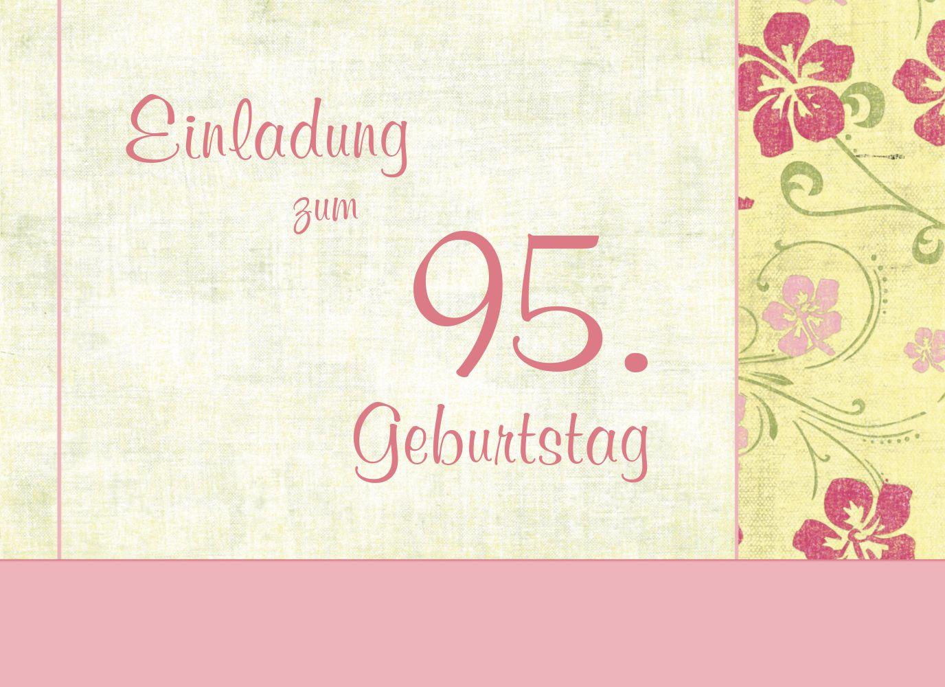 Ansicht 3 - Einladung zum Geburtstag Foto Hibiskus 95