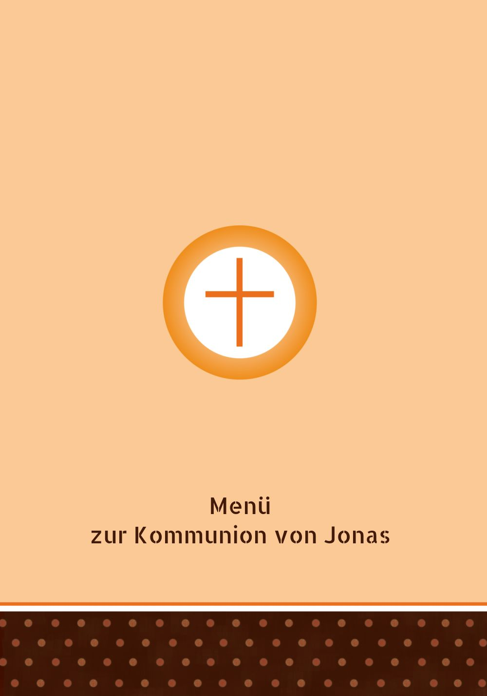 Ansicht 3 - Kommunion Menükarte Kreuzhostie