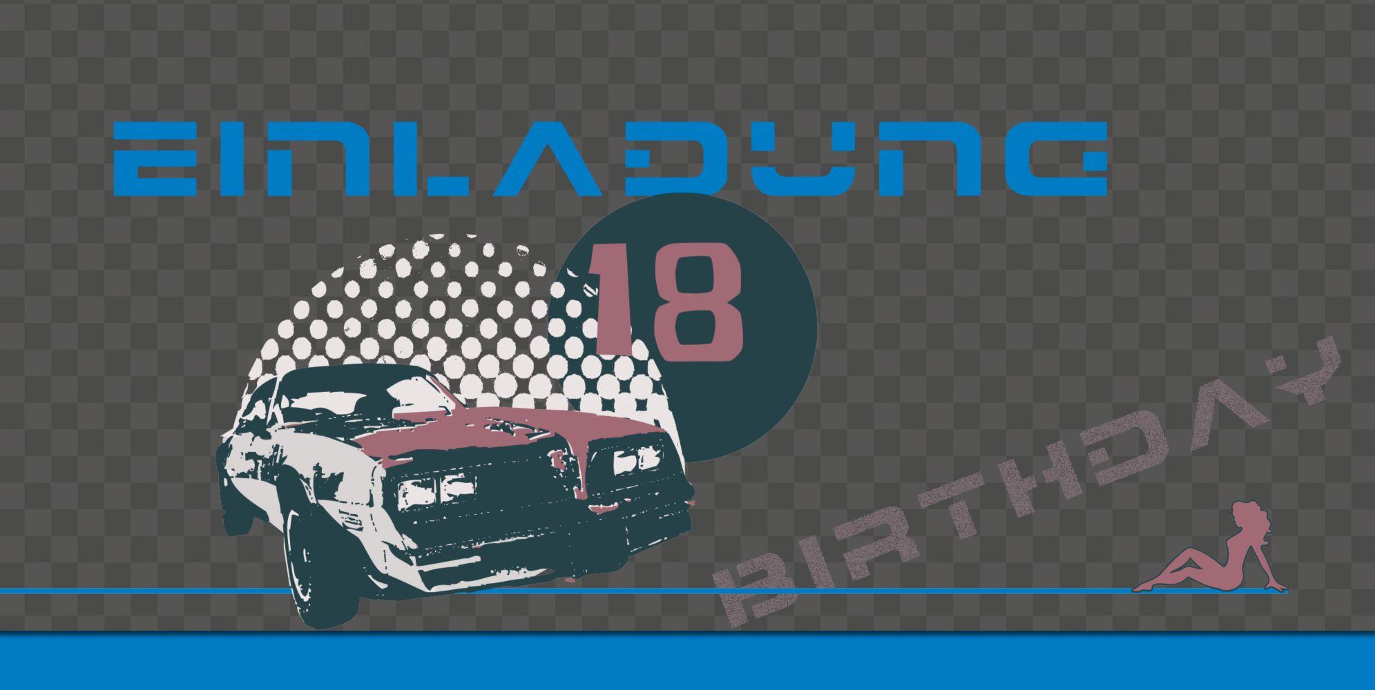 Ansicht 3 - Einladung zum 18. Geburtstag Car Foto