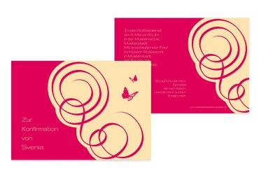 Einladungskarte zur Konfirmation Butterfly