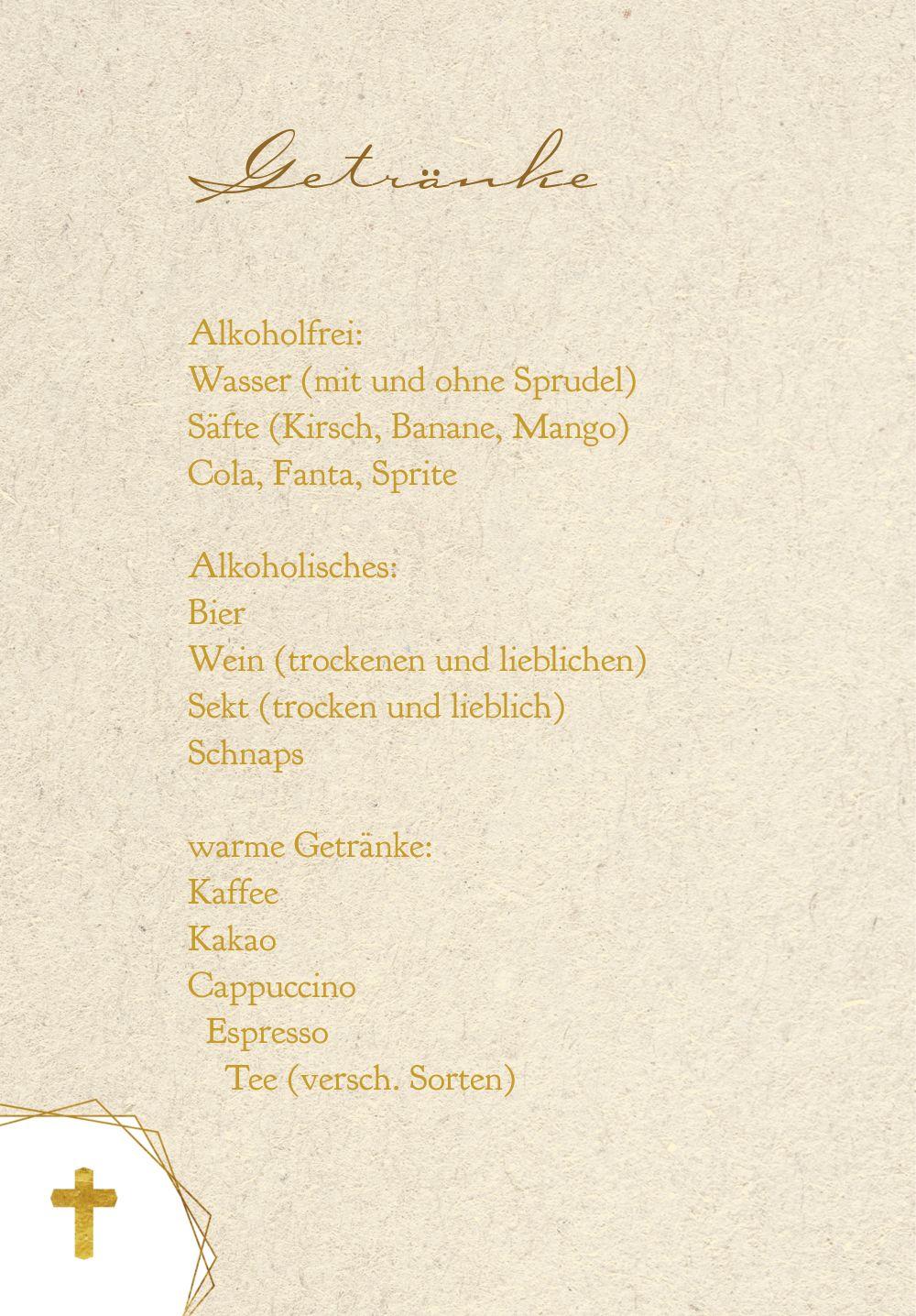 Ansicht 4 - Konfirmation Menükarte Goldrausch