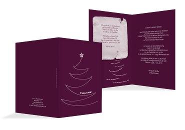 Einladung Schriftbaum