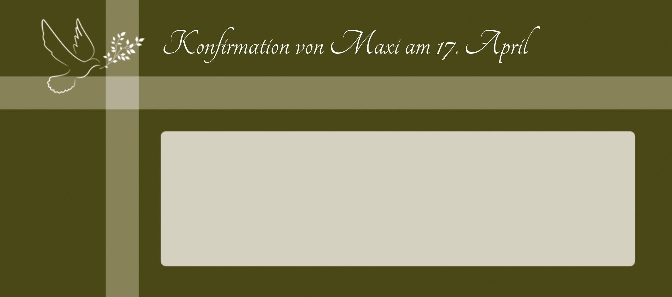 Ansicht 3 - Konfirmation Tischkarte Glaubensbote