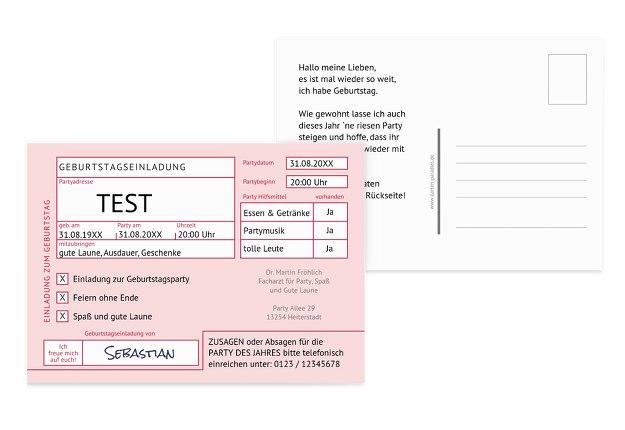 Testkarte TEST