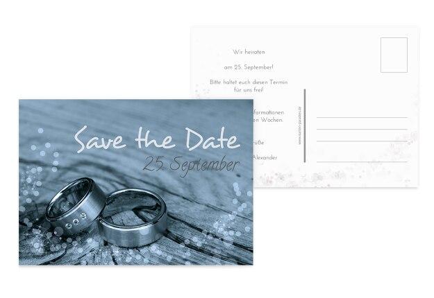 Hochzeit Save the Date Eheringe