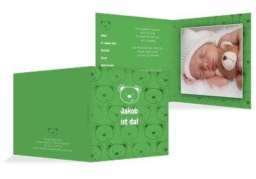 Babykarte Bärchen
