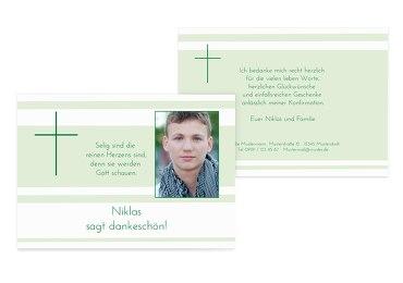 Konfirmation Dankeskarte Kreuz