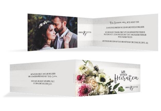 Hochzeit Einladung Bouquet