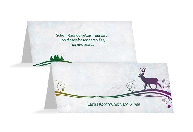 Tischkarte Bunter Wintertraum