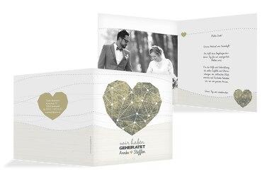 Hochzeit Dankeskarte Sternenbild