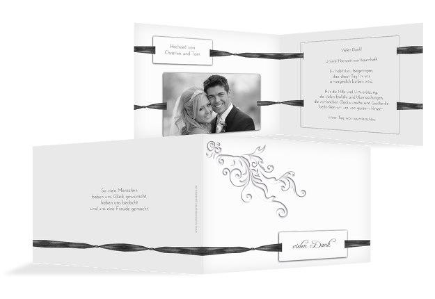 Hochzeit Dankeskarte loop label
