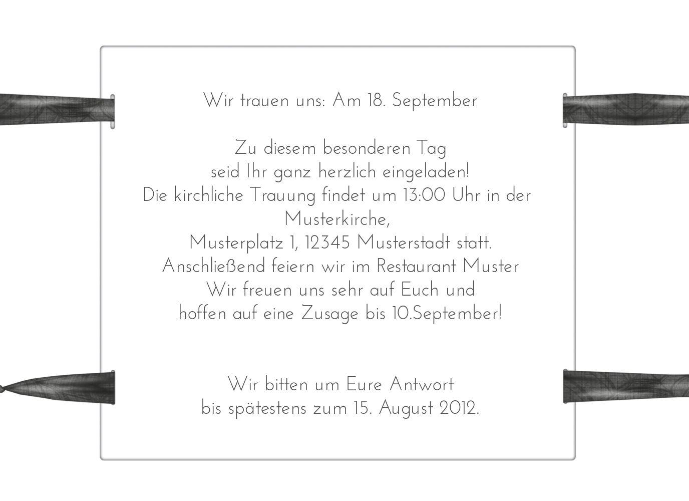 Ansicht 5 - Hochzeit Einladung loop label