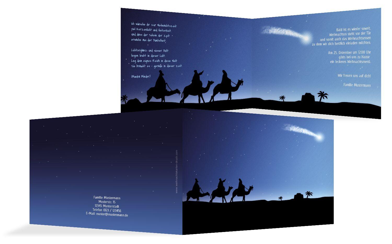Einladung drei heilige Könige