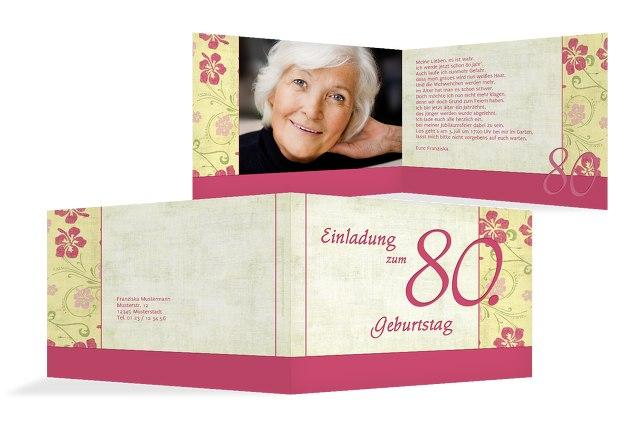 Karte zum Geburtstag Hibiskus 80 Foto